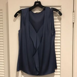 Dark cornflower Elie Tahari silk shell (sm)